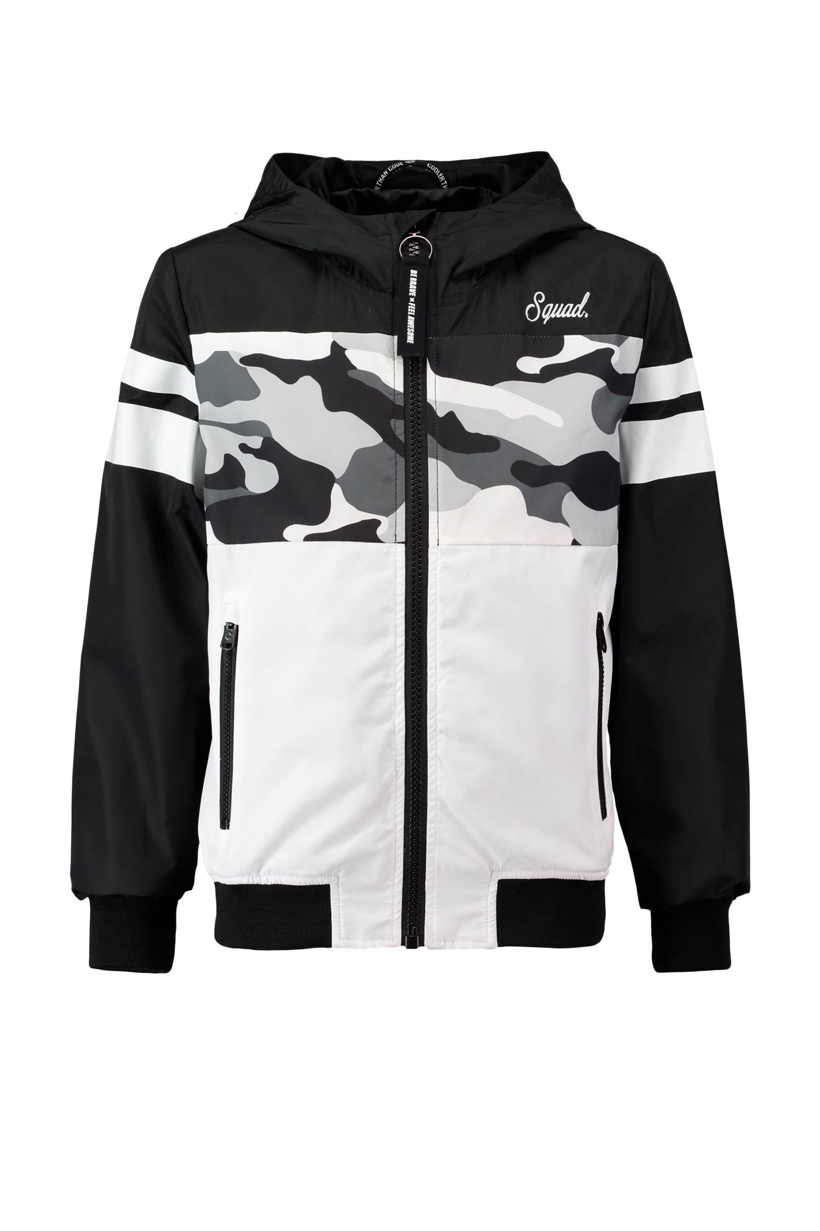 zomerjas met camouflage print