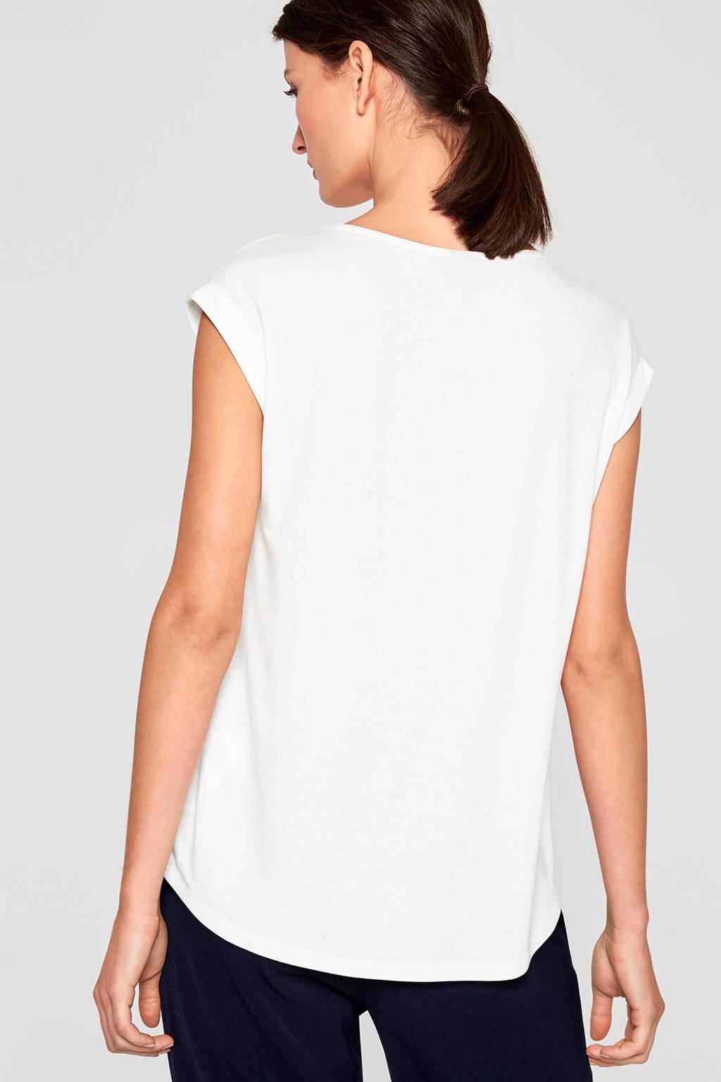 s.Oliver BLACK LABEL T-shirt gebroken wit, Gebroken wit