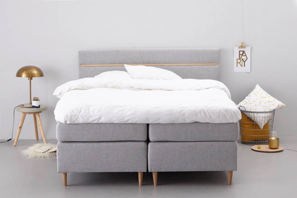 whkmp's own complete boxspring Houston (160x200 cm), Grijs