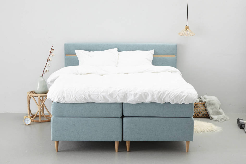 whkmp's own complete boxspring Houston, 140x200, Aqua