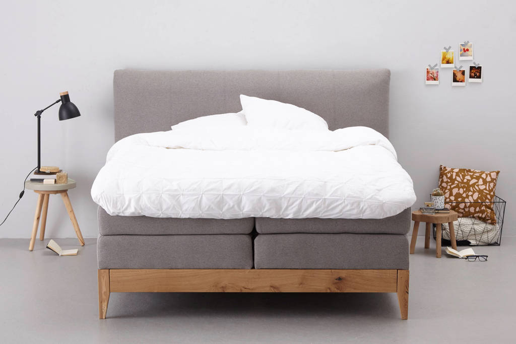 whkmp's own complete boxspring Toronto (180x200 cm), Donkergrijs