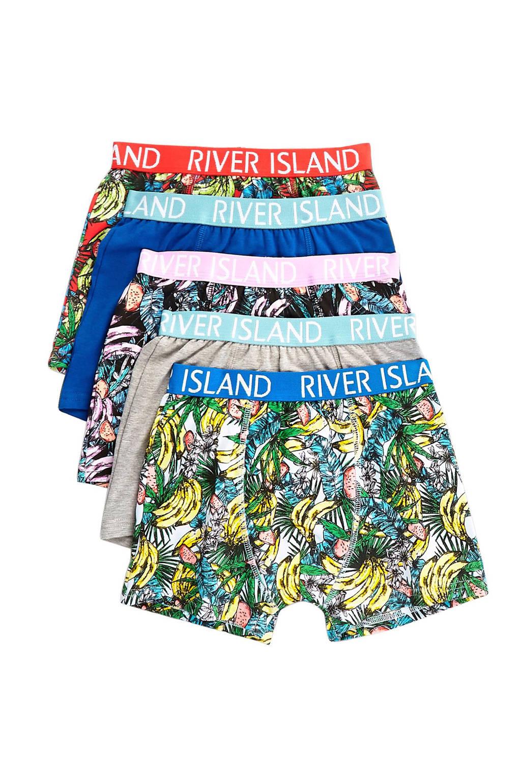River Island Junior  boxershort (set van 5), Blauw/groen/rood
