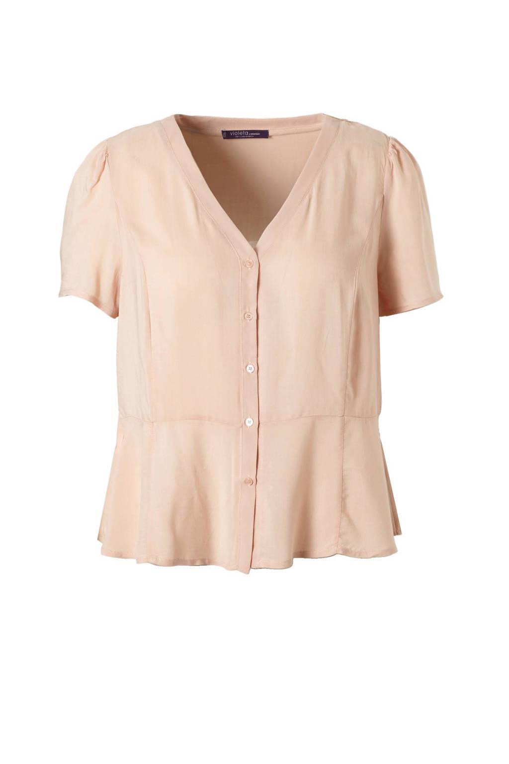 Violeta by Mango blouse, Lichtroze