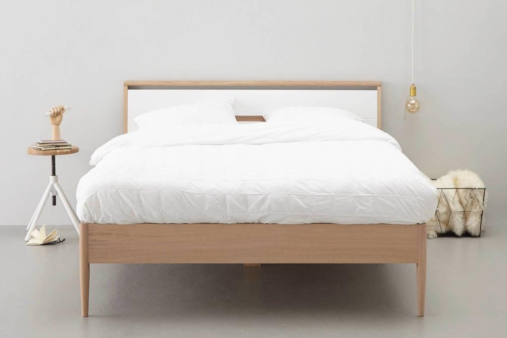 whkmp's own bed Lykke (160x200 cm), Licht eiken/ wit