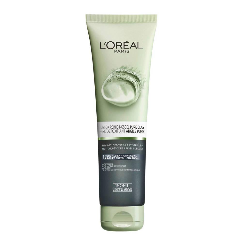 L'Oréal Paris Skin Expert Brighten Pure Clay Gel - 150 ml - Reinigingsgel