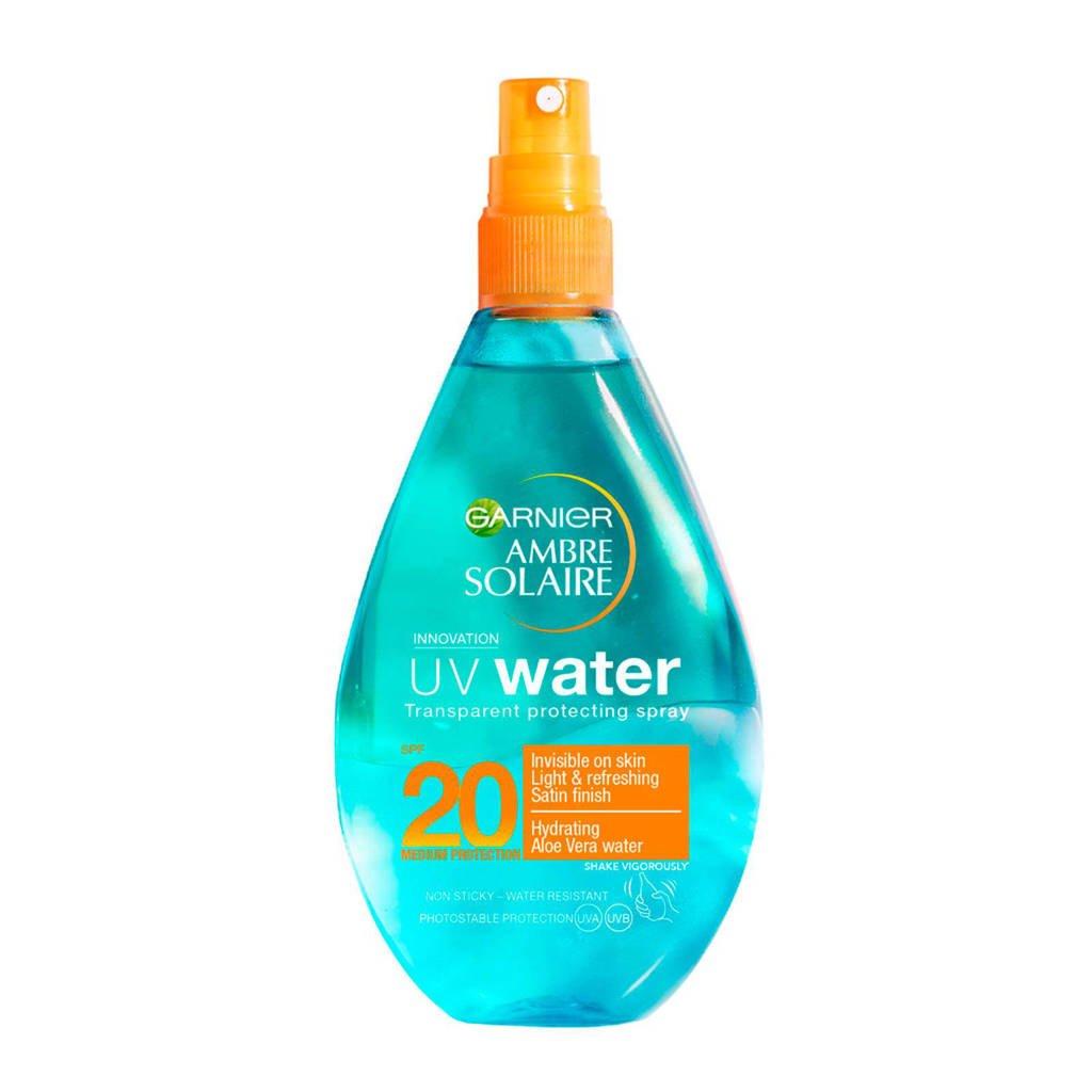 Garnier Ambre Solaire UV Water - Beschermende zonnebrandspray SPF20 - 150ml, Zonnefactor SPF 20