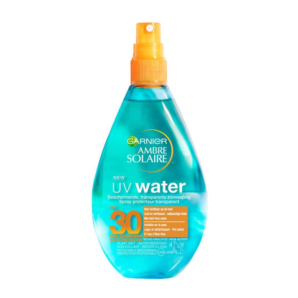 Garnier Ambre Solaire UV Water - Beschermende zonnebrandspray SPF30 - 150ml, Zonnefactor SPF 30