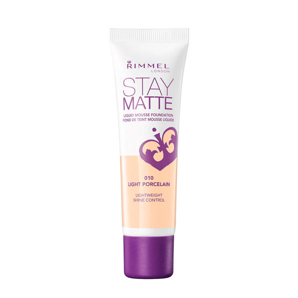 Rimmel London Stay Matte Liquid foundation - 010 Light Porcelain