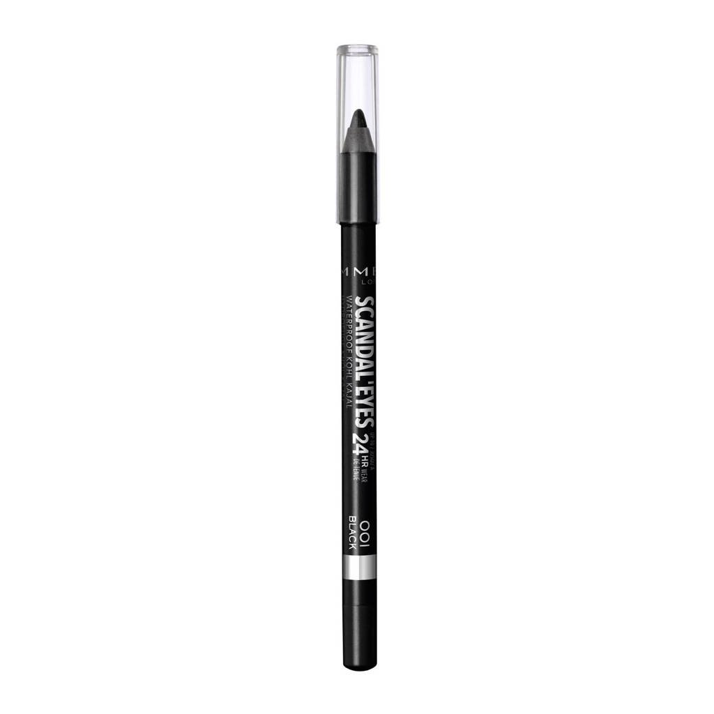 Rimmel London Scandal'Eyes Waterproof Kohl Pencil 001 Black, 1 black