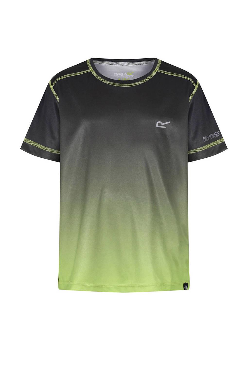 Regatta Fazed outdoor T-shirt grijs/groen, Grijs/groen