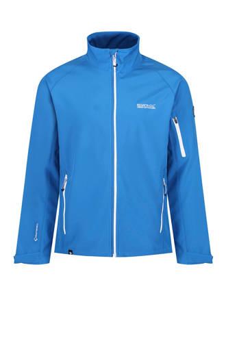 Nielson softshell jack blauw