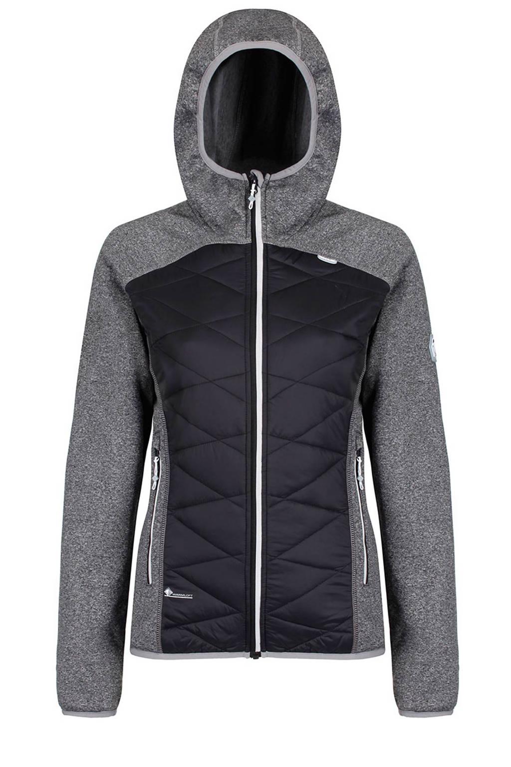 Regatta Andreson midlayer outdoor jas, Grijs melange/zwart