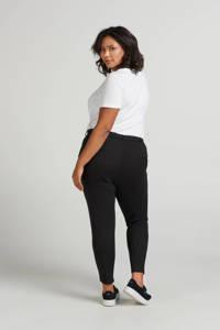 Zizzi regular fit broek Maddison zwart, Zwart