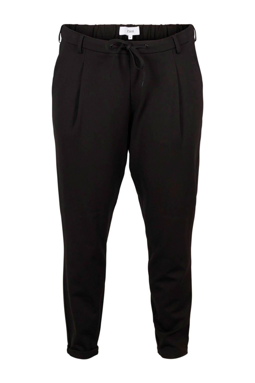 Zizzi regular fit broek, Zwart