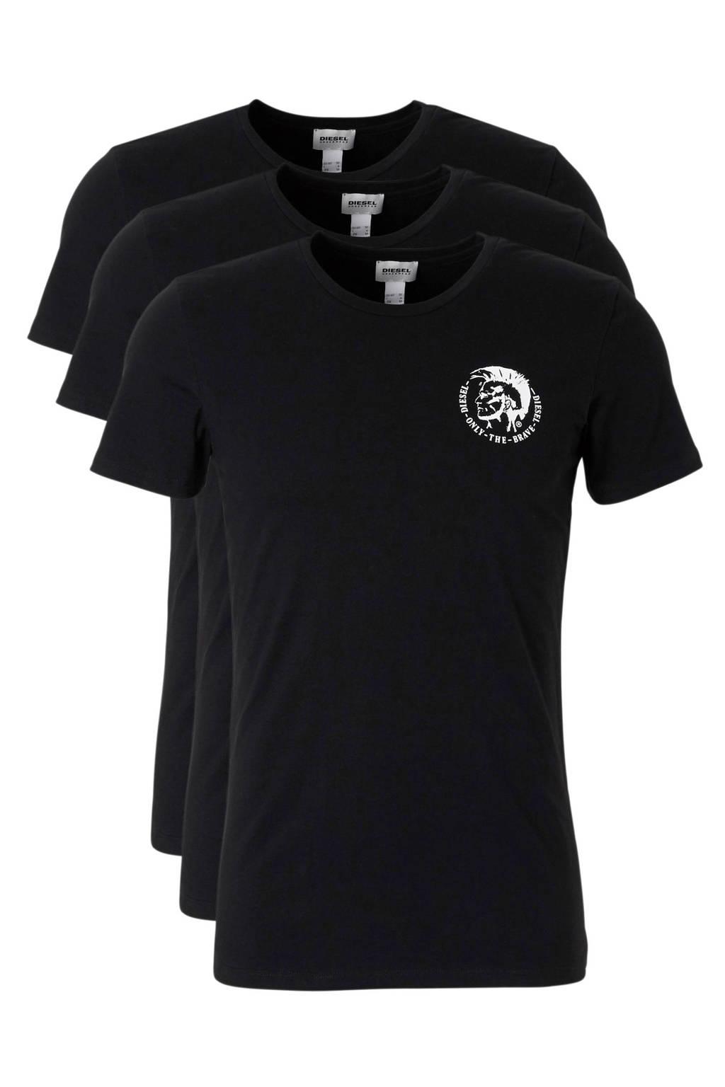 Diesel T-shirt Randal (set van 3), Zwart / Wit