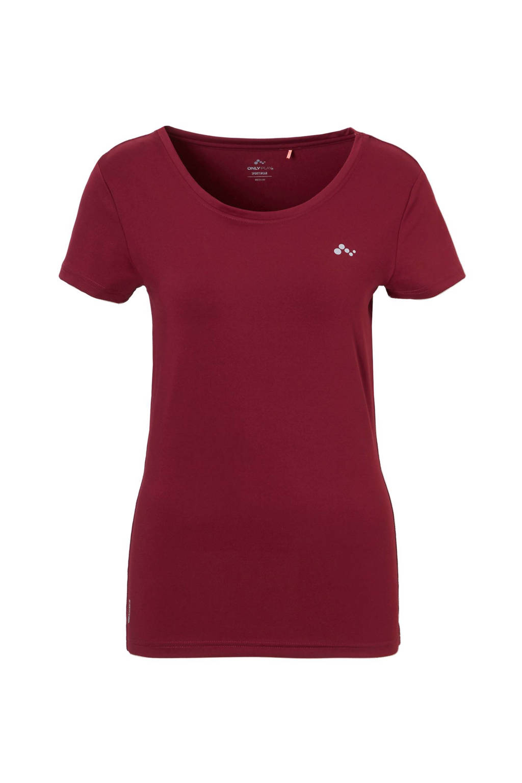 ONLY PLAY sport T-shirt, Bordeaux