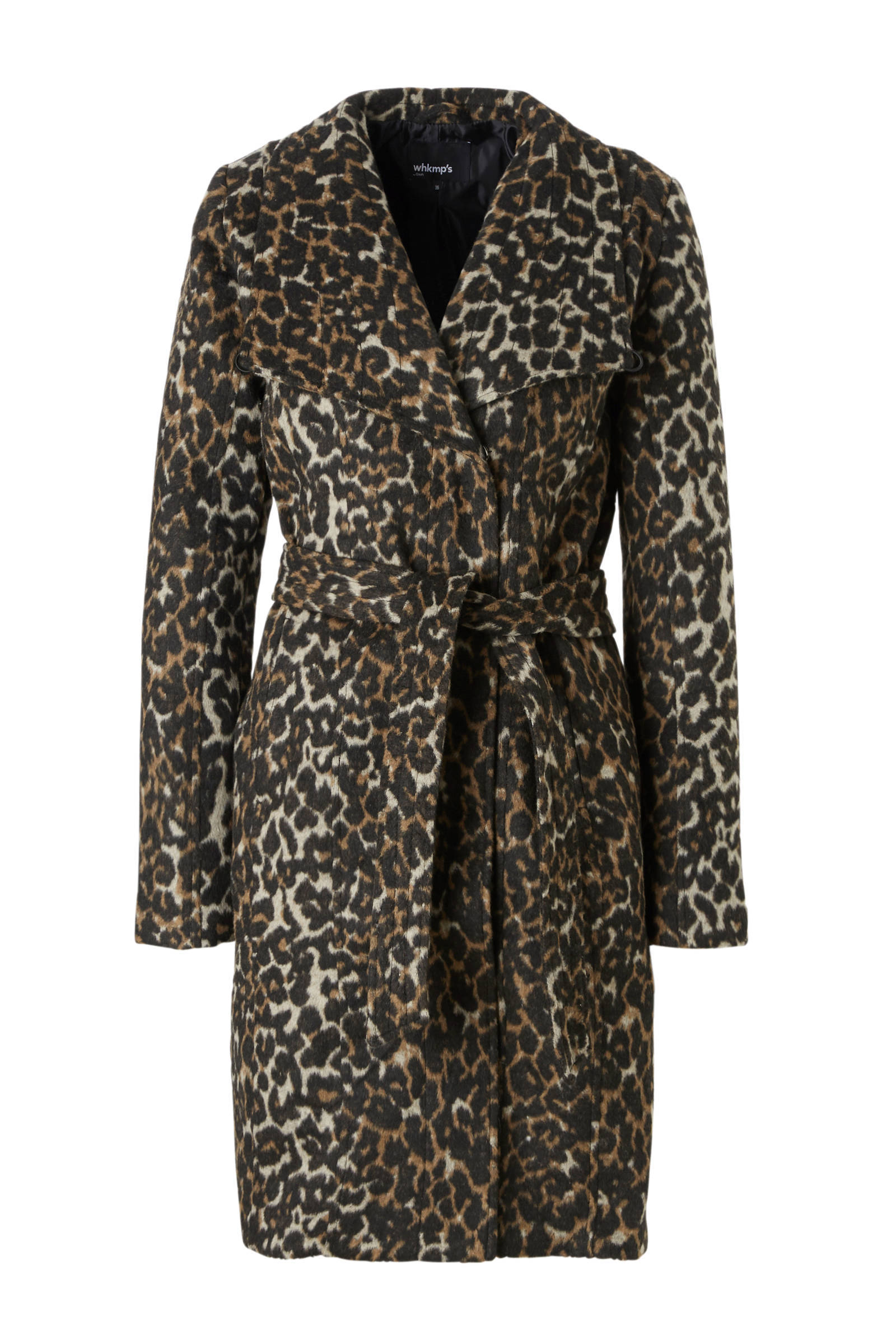 whkmp's own coat met panterprint (dames)