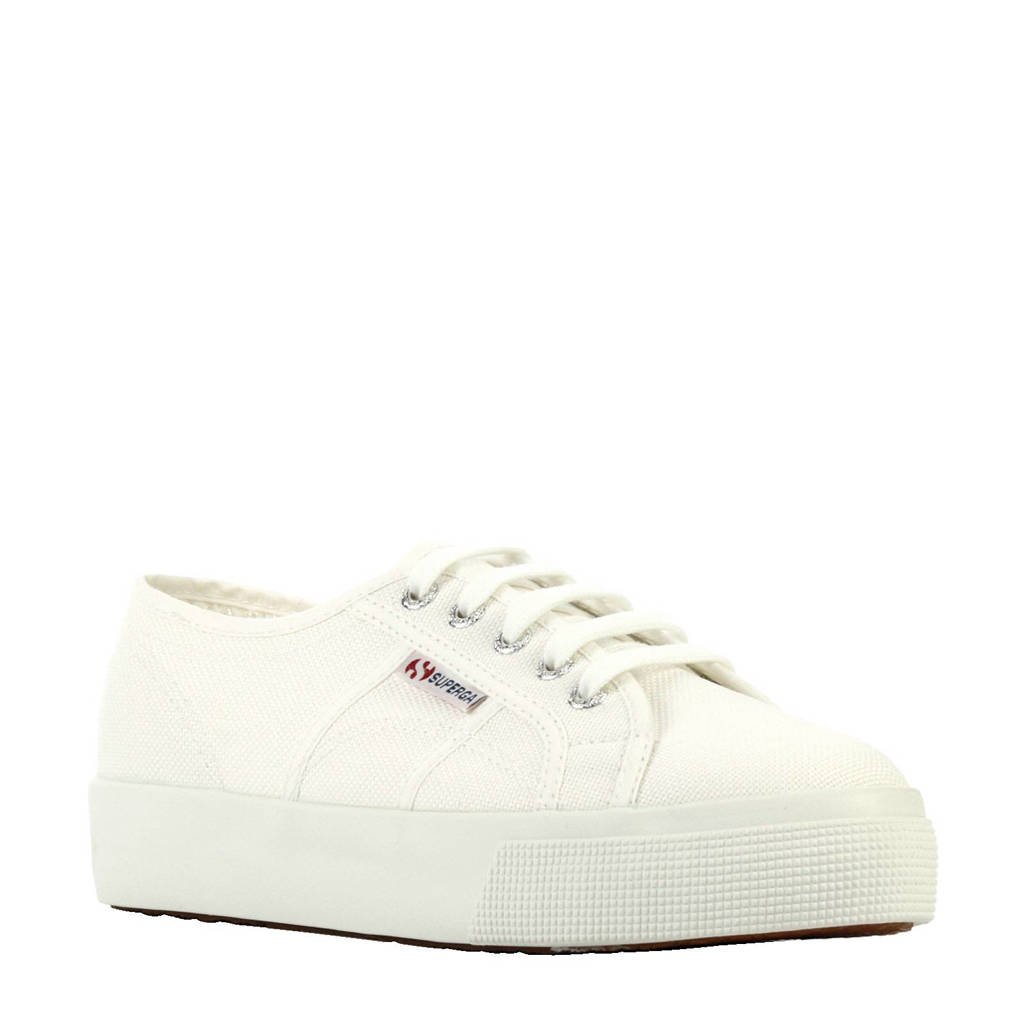 Superga plateau sneakers, Wit