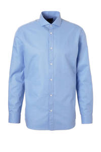 SELECTED HOMME Jay slim fit overhemd, Blauw/wit