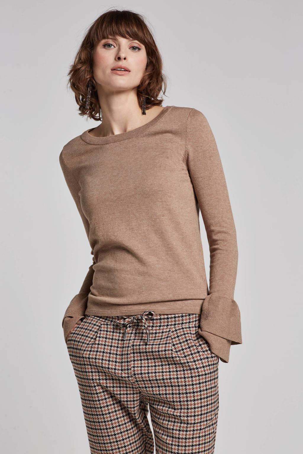 whkmp's own fijnbrei trui met rushes, Beige