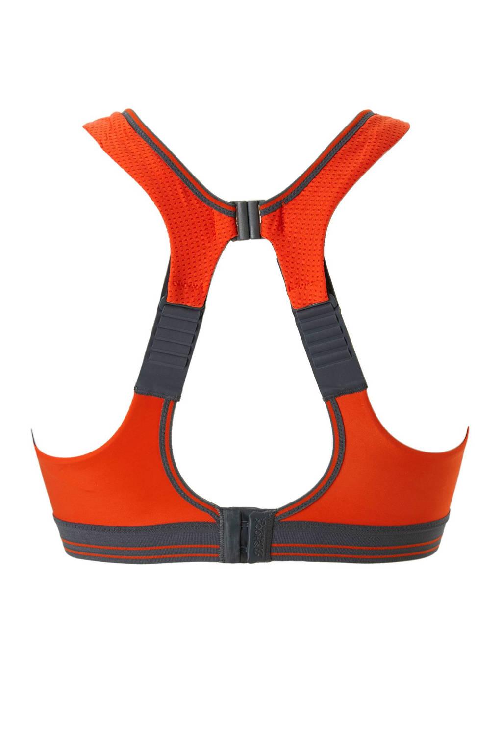 Shock Absorber Ultimate Run Bra TOP-level sportbh grijs/oranje, Grijs/oranje