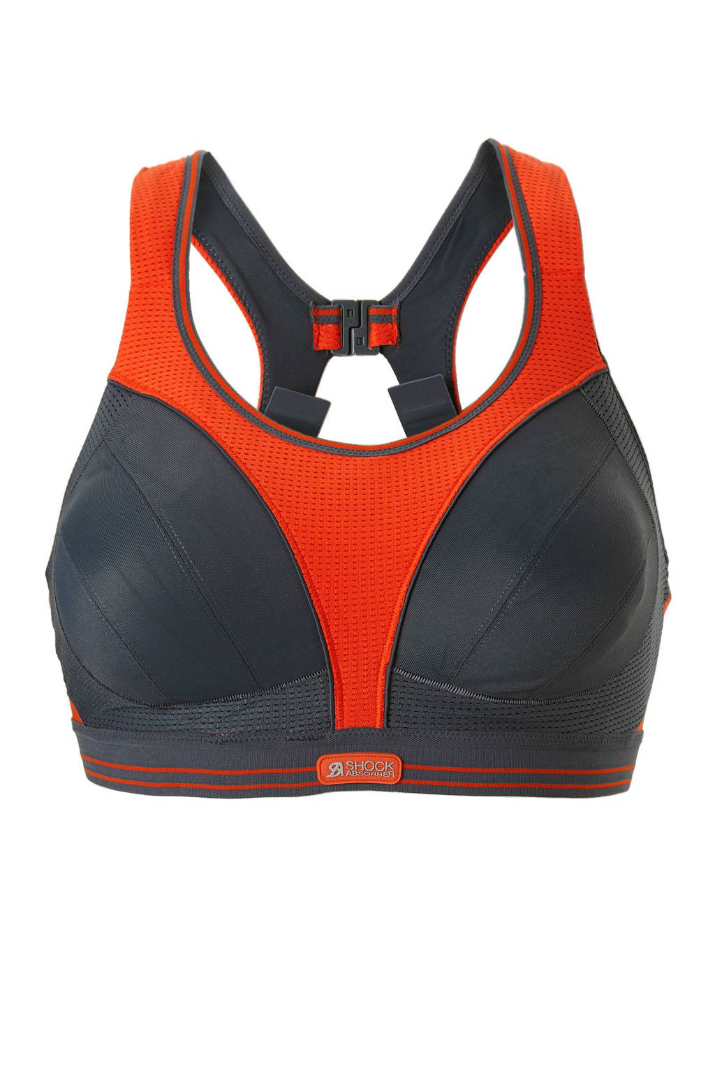Shock Absorber sportbh Ultimate Run Bra grijs/oranje, Grijs/oranje