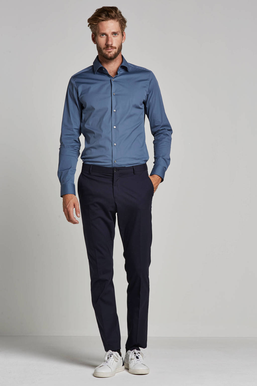 SELECTED HOMME slim fit pantalon, Donkerblauw