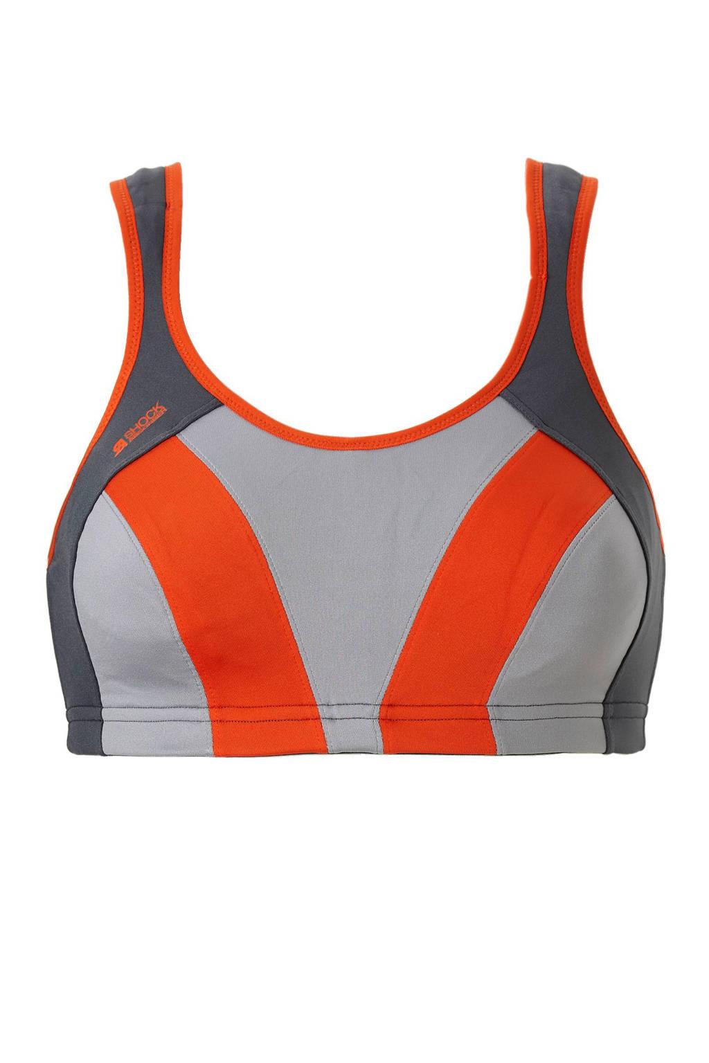 Shock Absorber sportbh Active Multi Sport Support grijs/oranje, Grijs/oranje