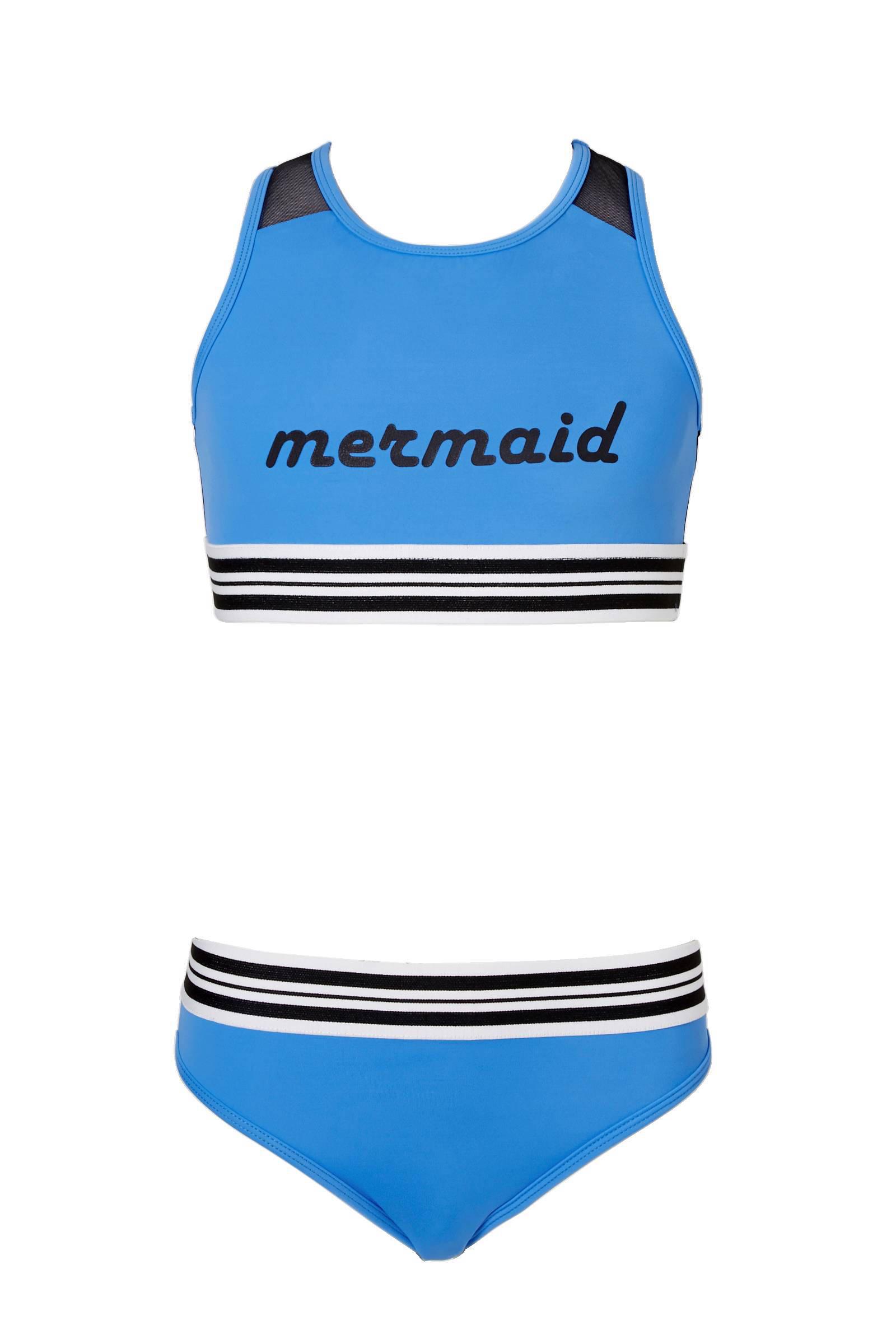 whkmp's beachwave bikini met tekstopdruk (meisjes)