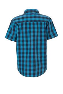 geruite overhemd donkerblauw