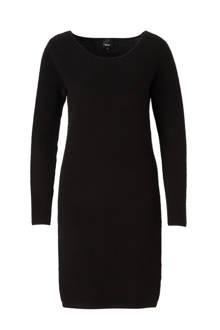 fijnbrei jurk in ribbel effect