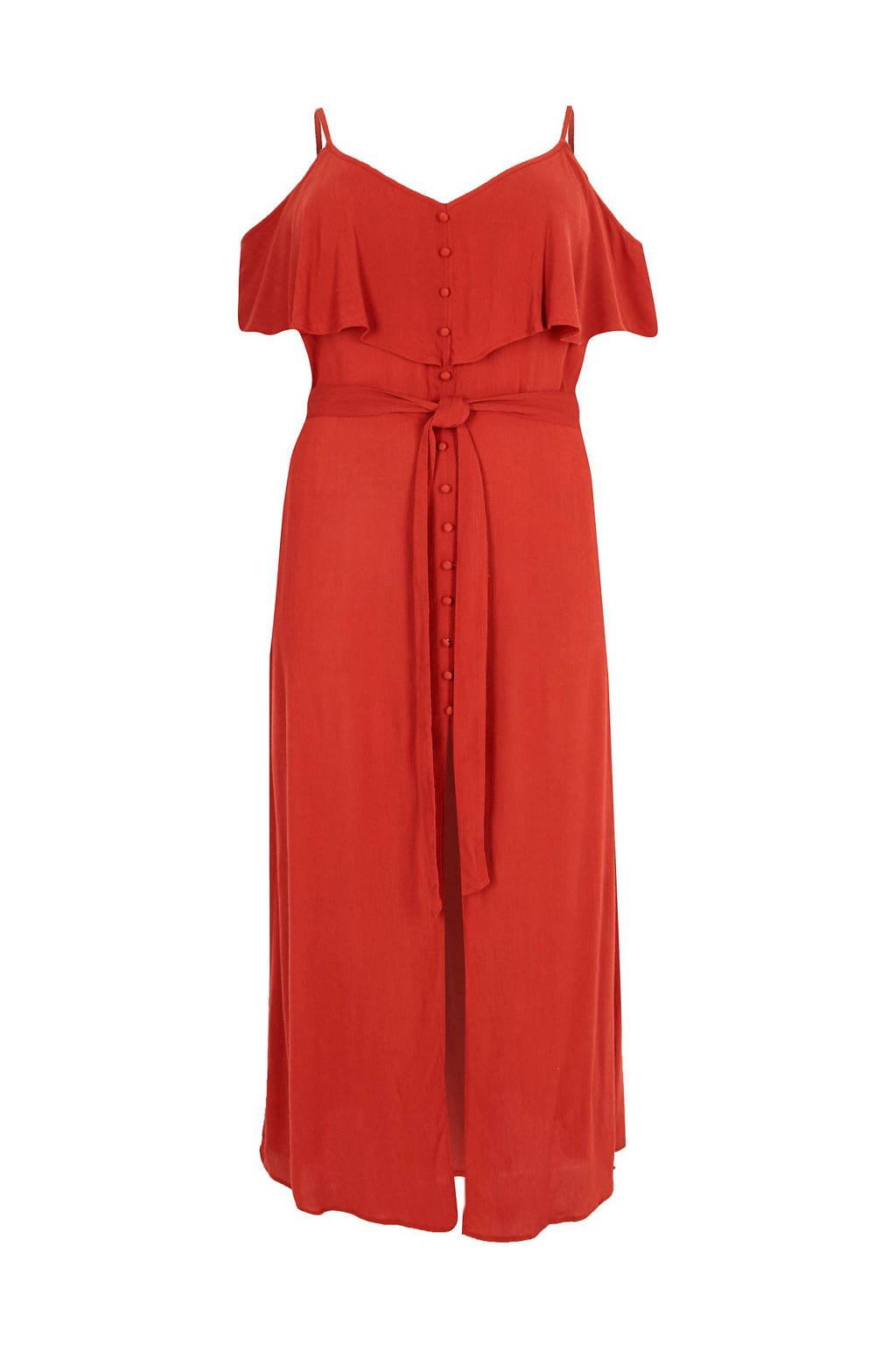 River Island Plus cold shoulder maxi jurk, Roodbruin