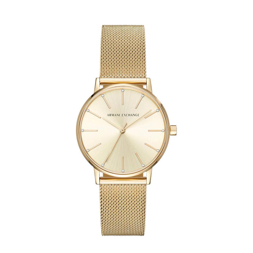 Armani Exchange Lola Dames Horloge AX5536, Goud