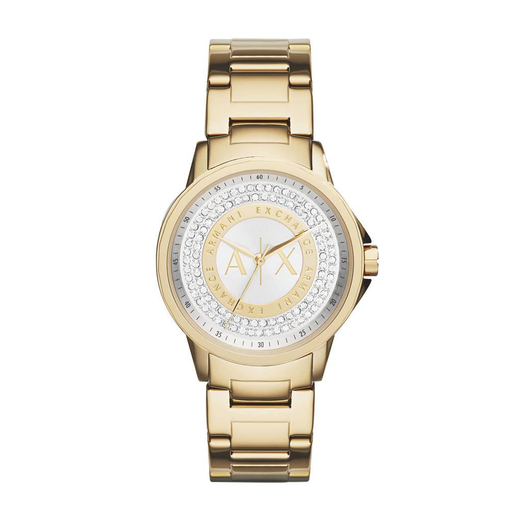 Armani Exchange Lady Banks Dames Horloge AX4321, Goud