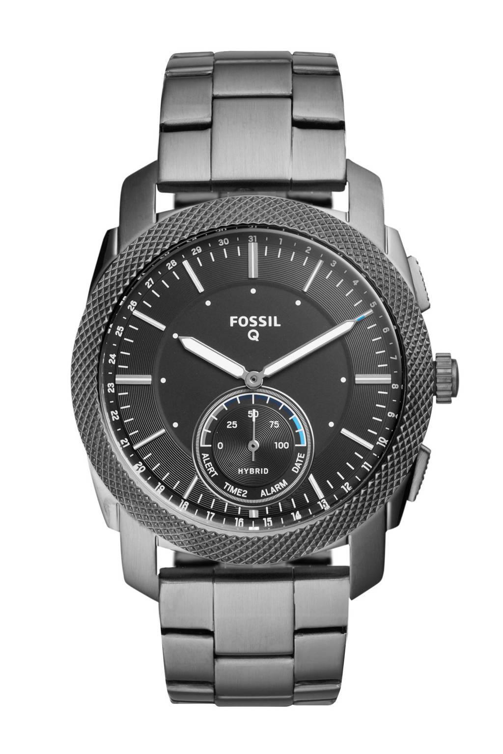 Fossil Q Virginia hybrid watch FTW1166, Donker zilver/zwart