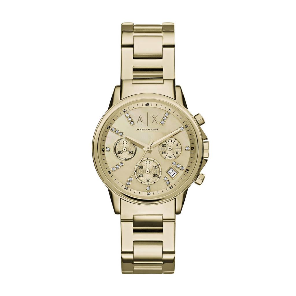 Armani Exchange chronograaf AX4327, Goud