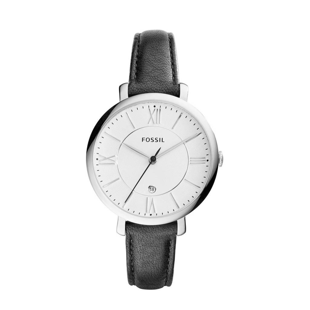 Fossil horloge ES3972, Zwart/zilver