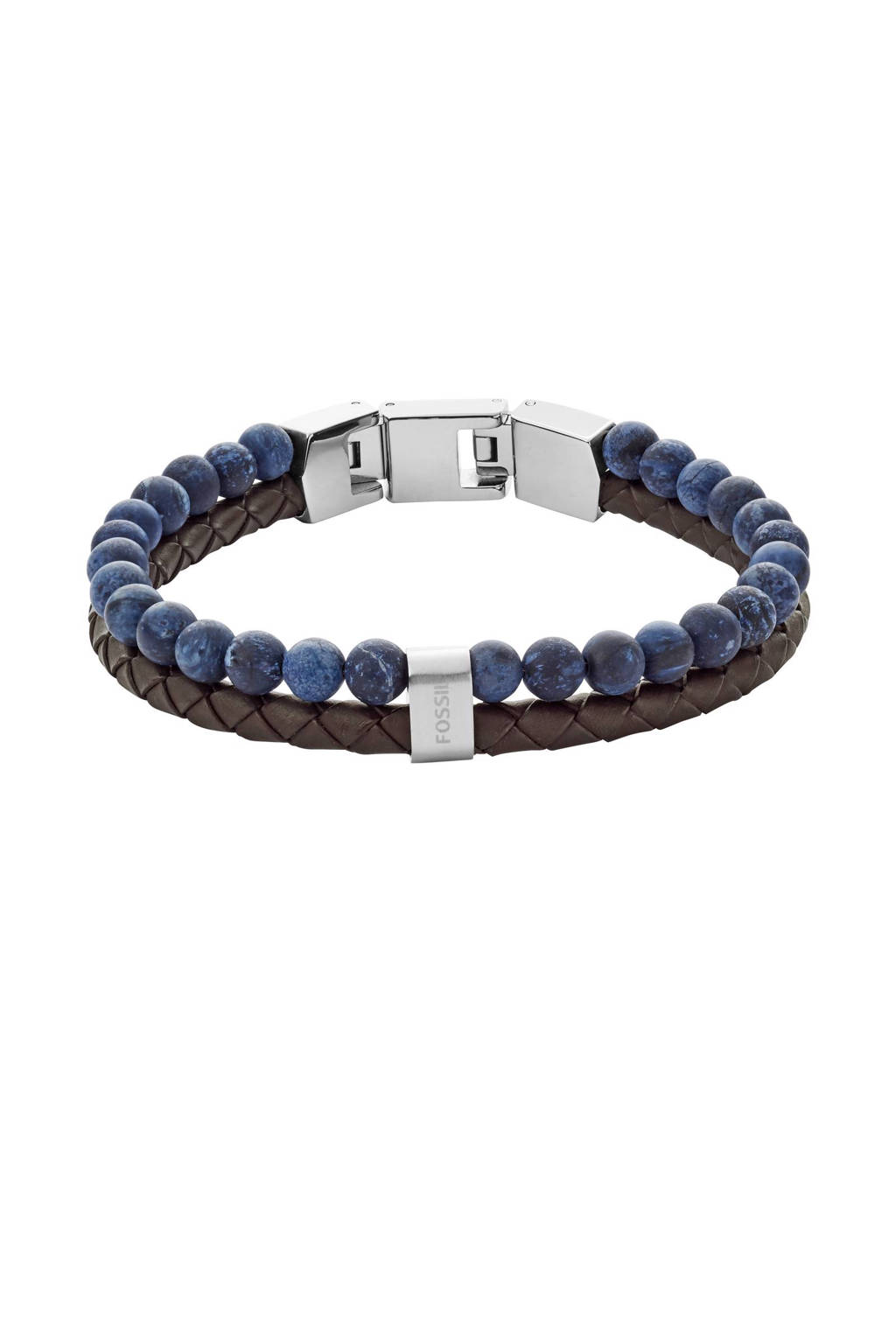 Fossil armband JF02830040, Bruin/blauw