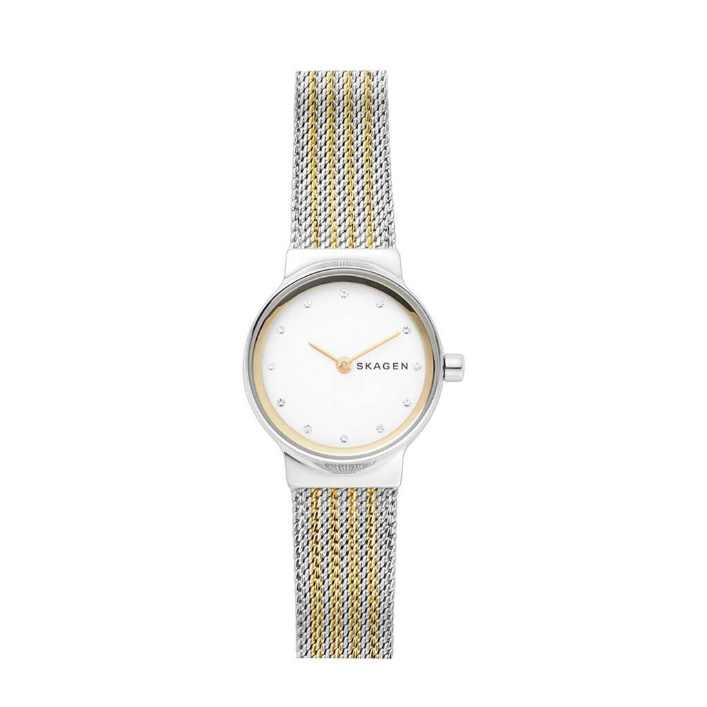 Skagen Freja Dames Horloge SKW2698, Zilver/goud