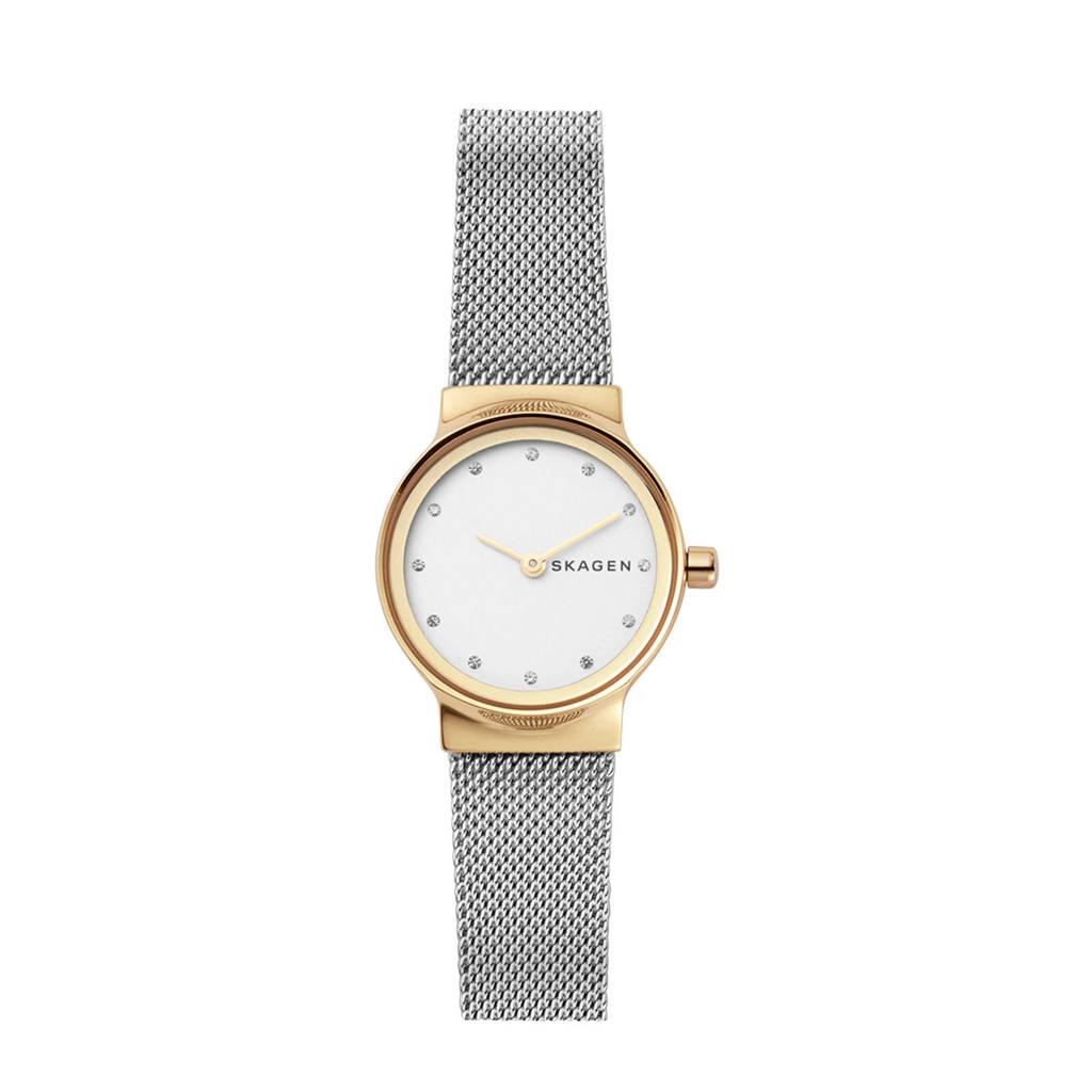 Skagen Freja Dames Horloge SKW2666, Goud/zilver