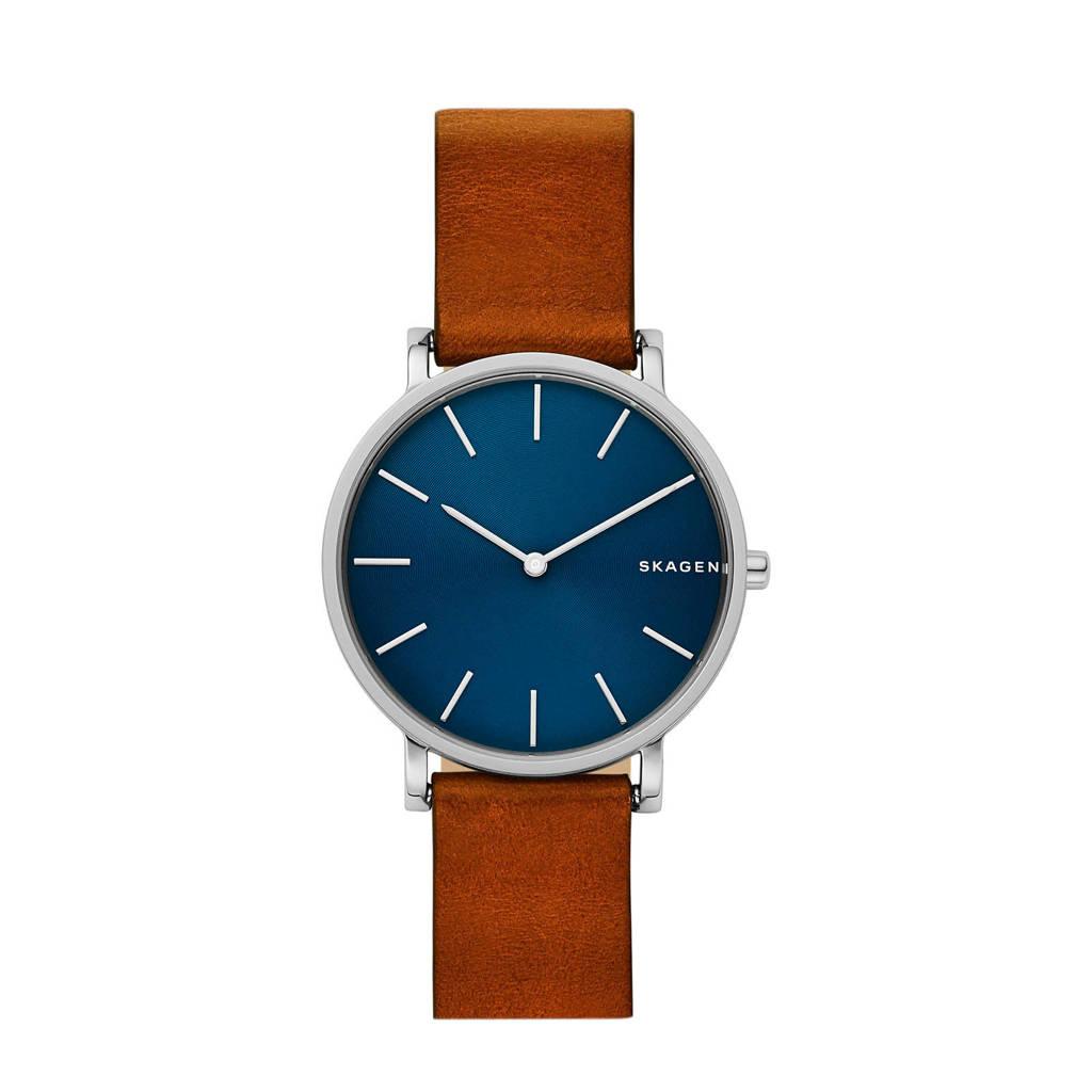 Skagen horloge SKW6446, Bruin/zilver/blauw