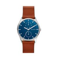 Skagen Holst Heren Horloge SKW6449, Bruin/zilver/blauw