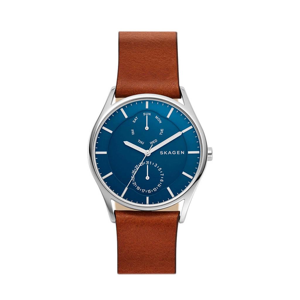 Skagen horloge SKW6449, Bruin/zilver/blauw