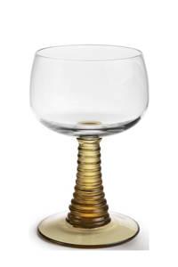 HKliving Swirl wijnglas (Ø8,5 cm), Groen