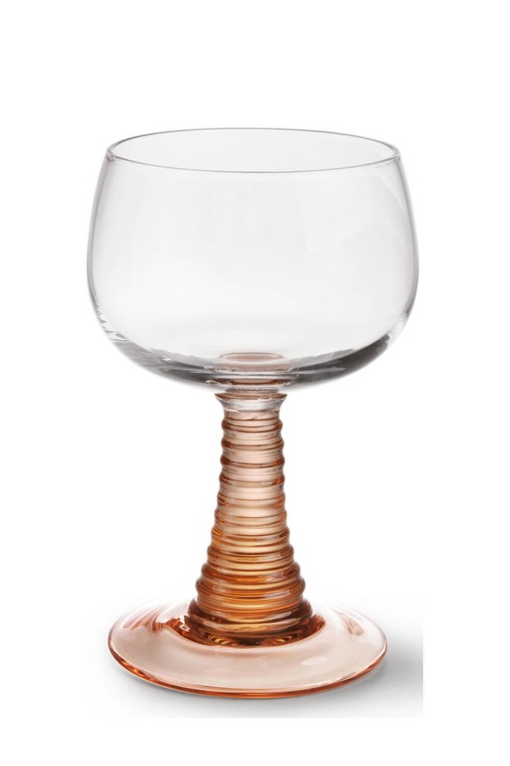 HKliving Swirl wijnglas (Ø8,5 cm), Roze