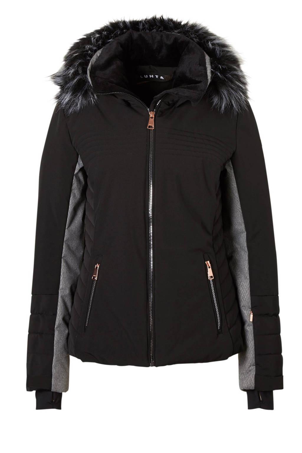Luhta ski-jack Berit zwart, Zwart/koper