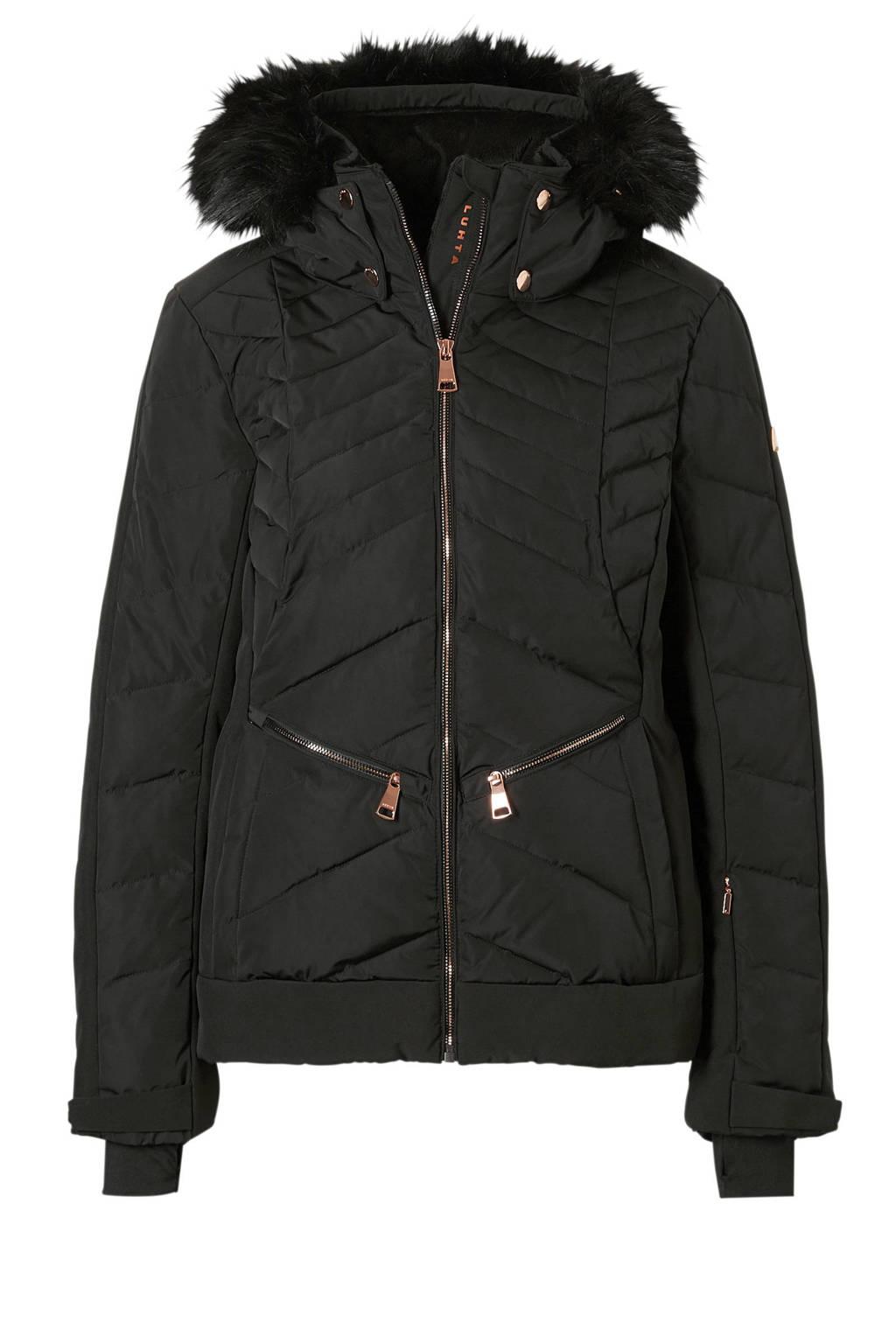 Luhta ski-jack Belinda zwart, Zwart
