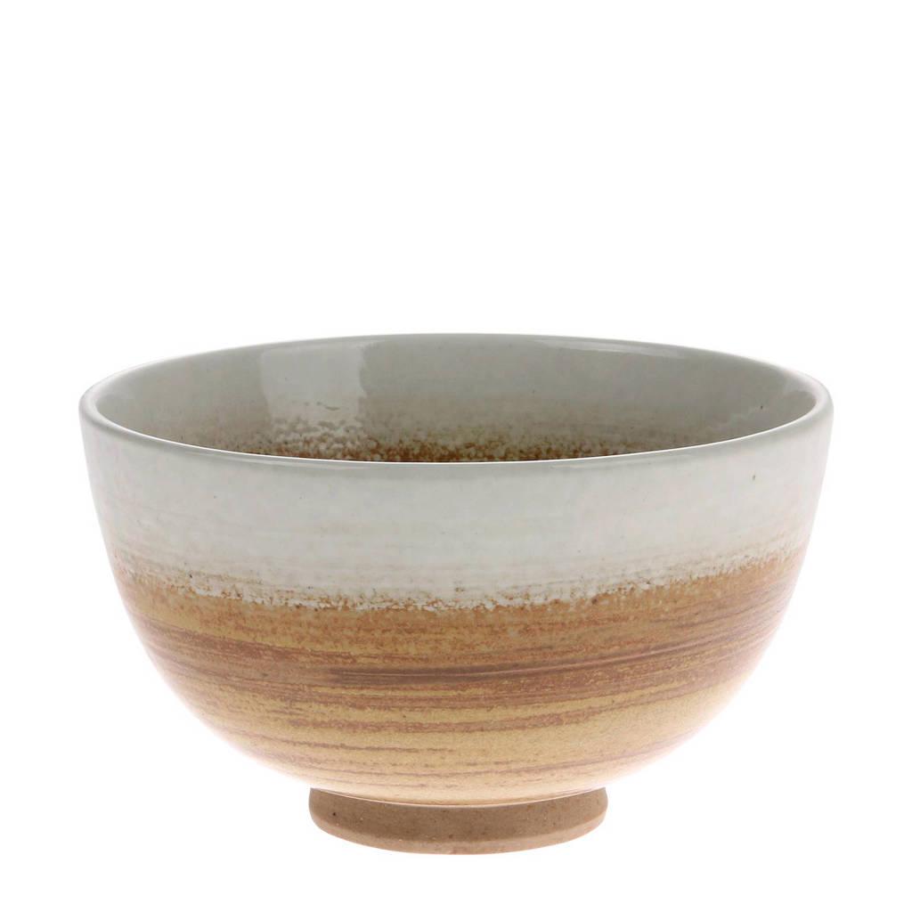 HKliving Kyoto kom (Ø10,5 cm), Bruin/wit