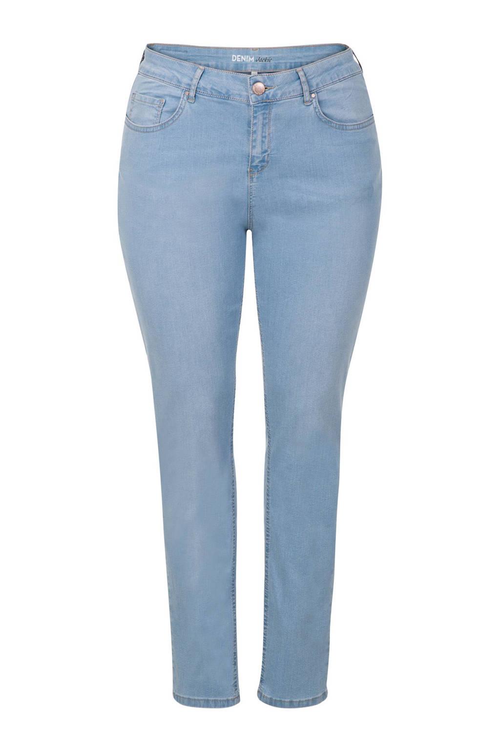 Miss Etam Plus high waisted slim fit jeans (32 inch), Light denim