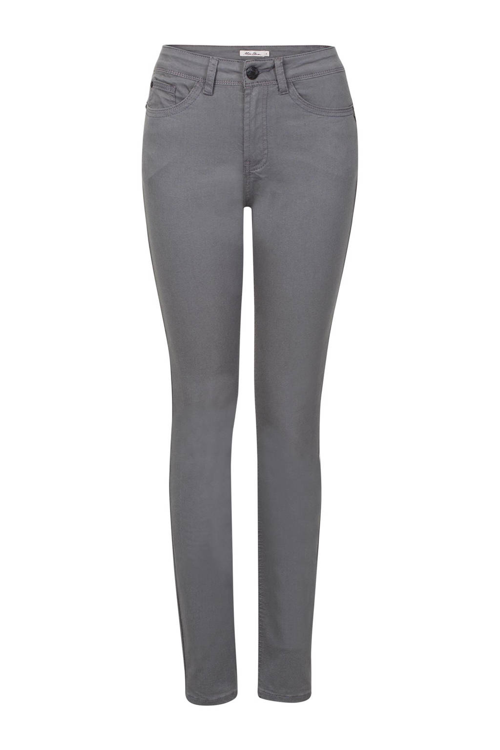 Miss Etam Lang push-up slim fit broek 36 inch, Grijs